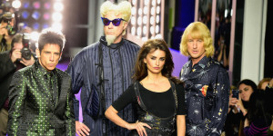 Ben Stiller, Will Ferrell, Penelope Cruz e  Owen Wilson alla sfilata per la prima di Zoolander 2 a New York  (Frazer Harrison/Getty Images for Paramount)