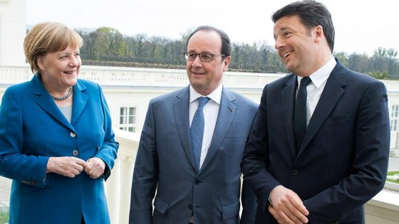 Hollande-Merkel-Renzi