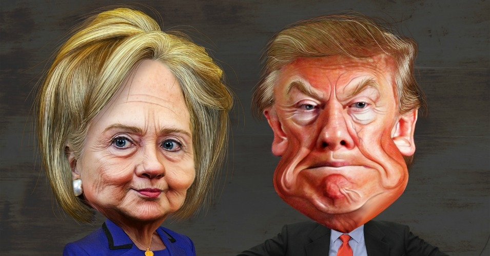 caricatura-hilary-clinton-trump