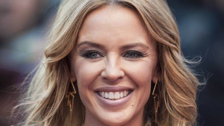 Kylie Minogue attending the San Andreas UK film premiere held at The Odeon cinema Leicester Square, London