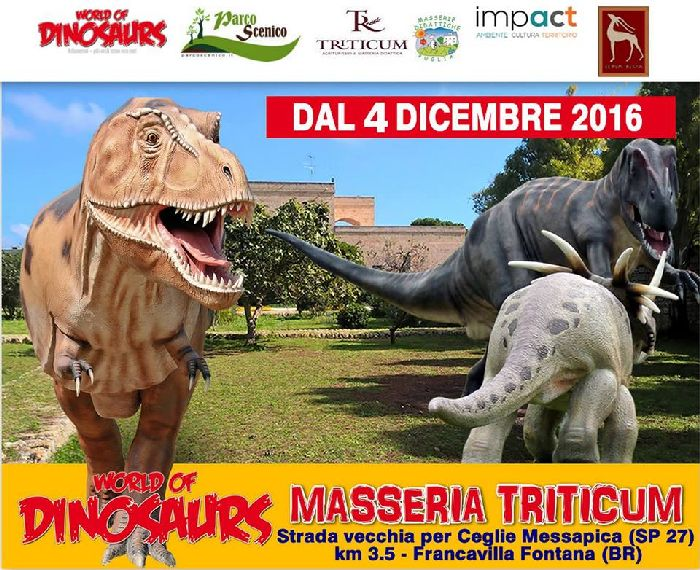 "LOCANDINA  ""The World of Dinosaurs"""