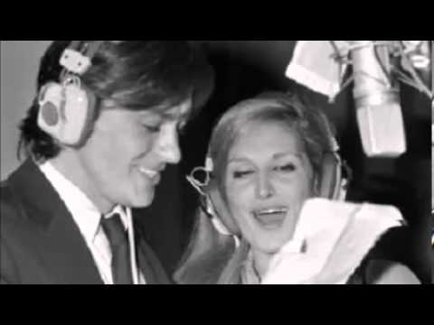 "Alain Delon e Dalida registrano ""Paroles Paroles"""