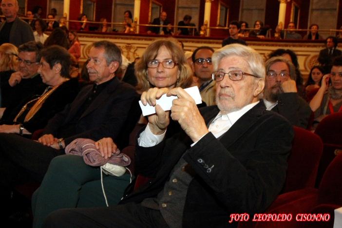 Ettore Scola con Cristina Comencini