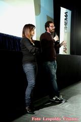 Ebe Guerra e Andrea Costantino durante la conferenza