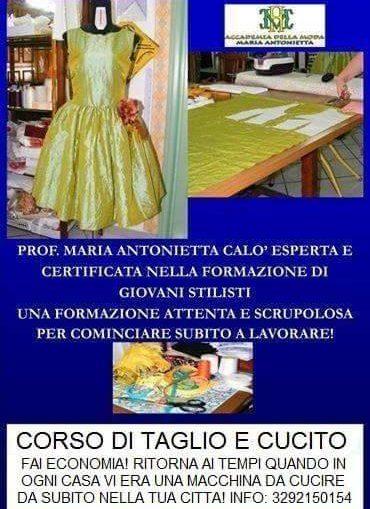 locandina sartoria corsi, mariaantonietta calò