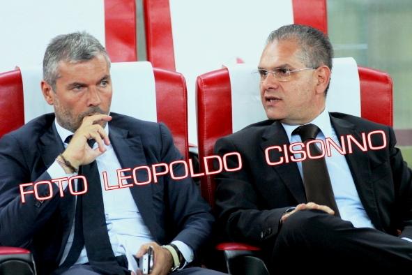 Il Direttore Sportivo Sogliano con il Presidente Giancaspro