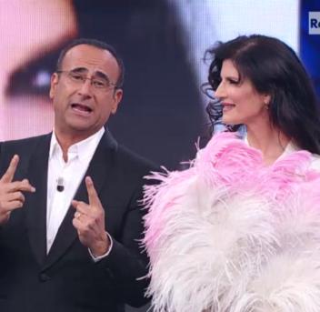 Carlo Conti e Pamela Prati