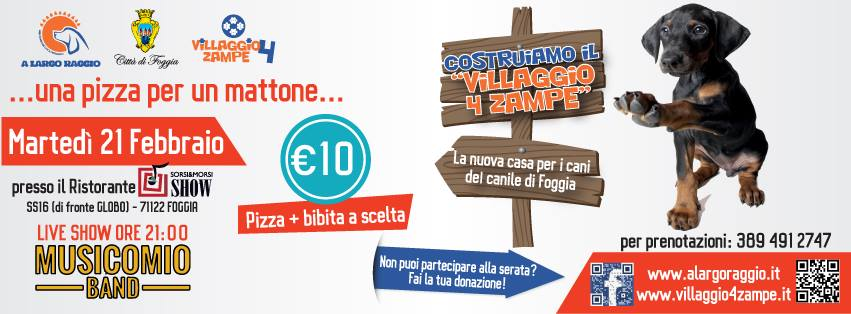 Foggia-Costruiamo un villaggio a 4 zampe- locandina