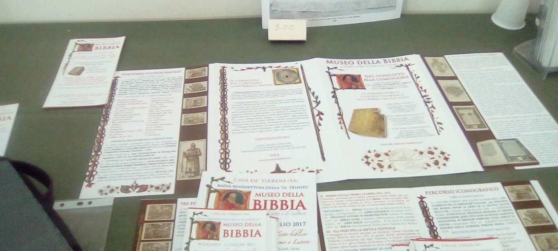 Mostra Museo della Bibbia, opuscoli