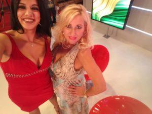 Studi Antenna Sud. Simona Daversa e Clelia Conte in un selfie