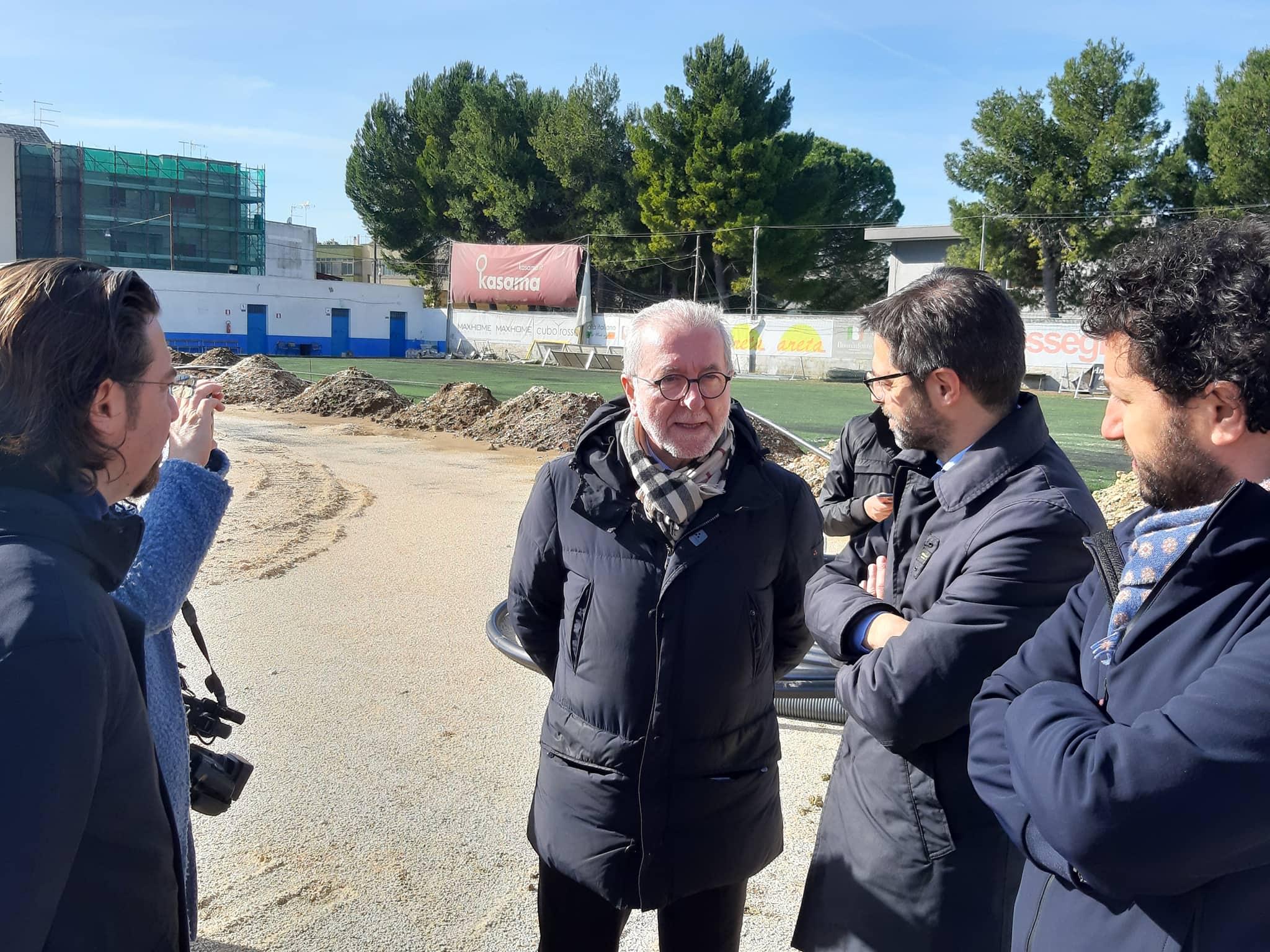 Francavilla fontana stadio verifica dei lavori con for Magri arreda francavilla fontana