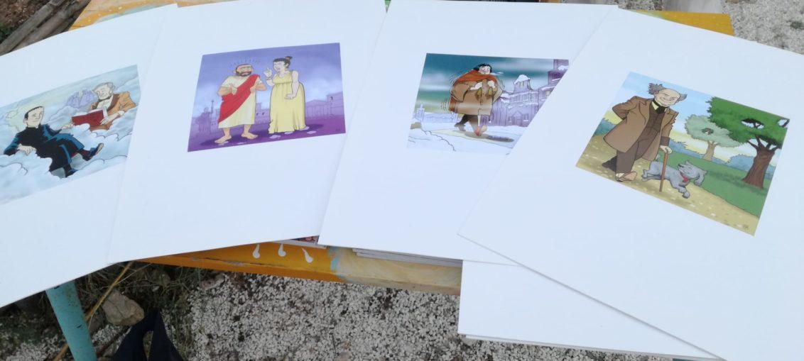 """disegni di inciardi """"la scuola dei ten di Monteleone"""